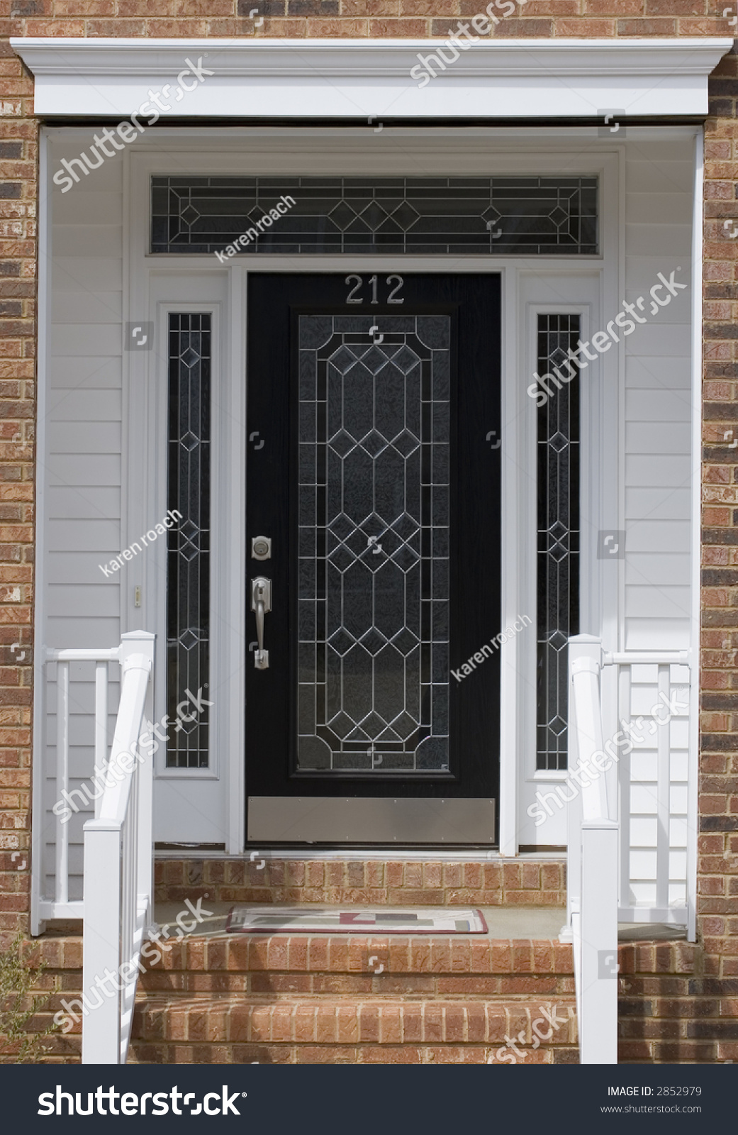 Nice front door of house from exterior view stock photo for Nice front doors