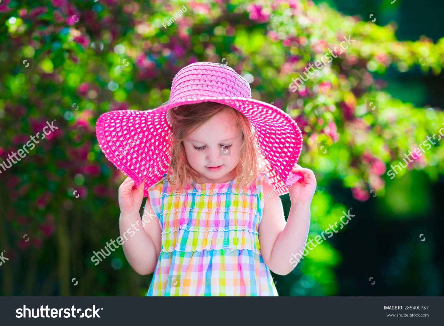 Little Cute Girl Flowers Child Wearing Stock Photo Edit Now