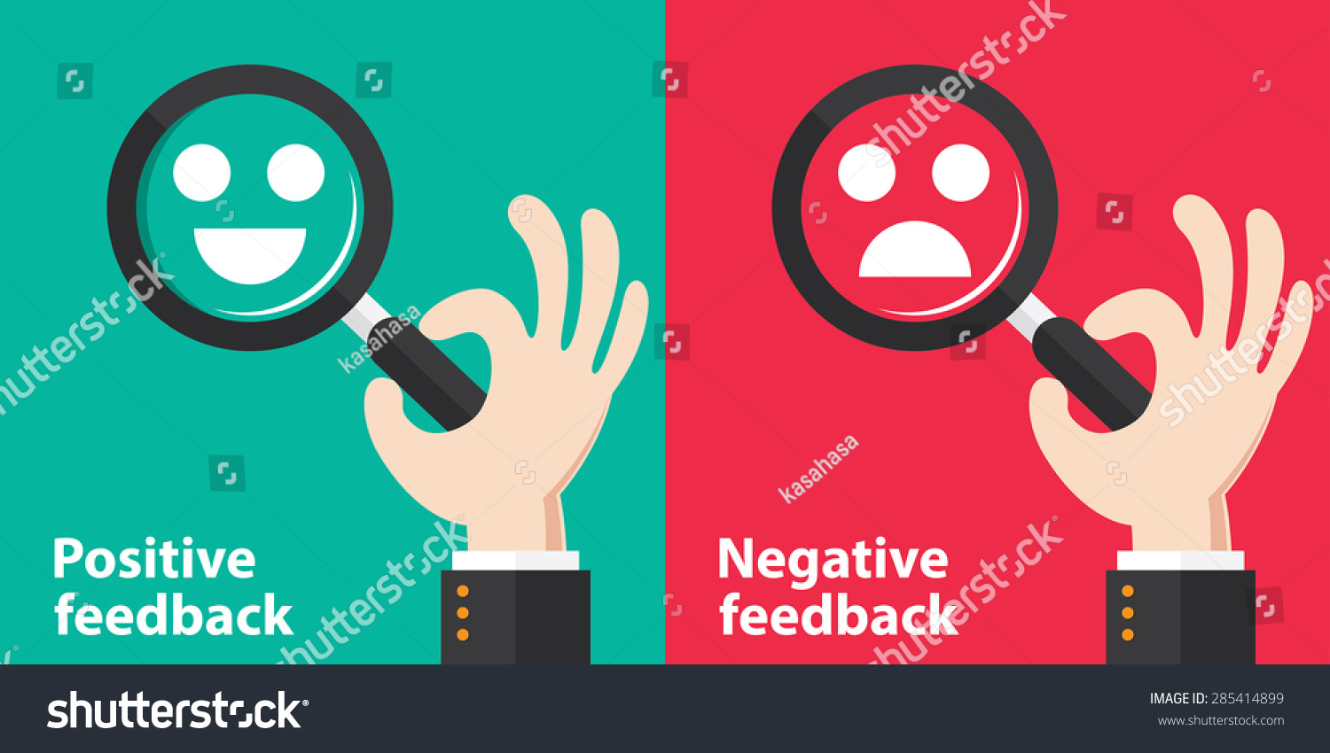 the concepts of negative and positive