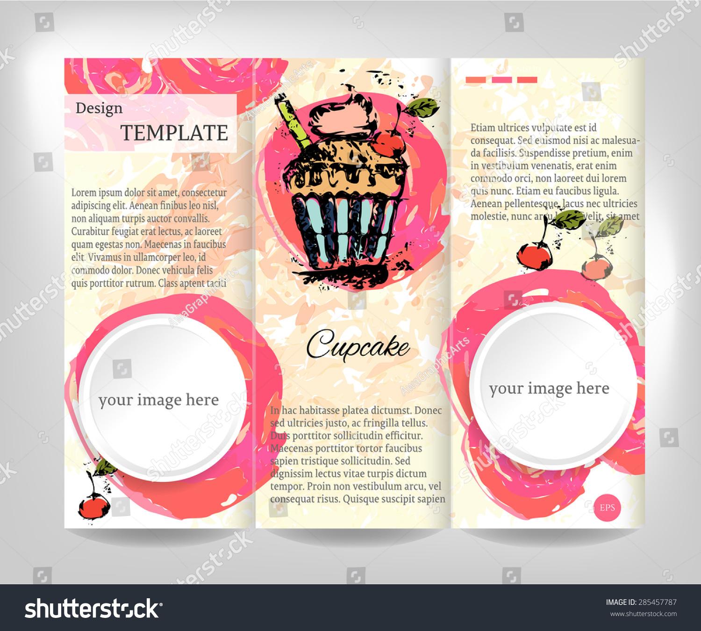 vintage brochure flyer template design white stock vector royalty