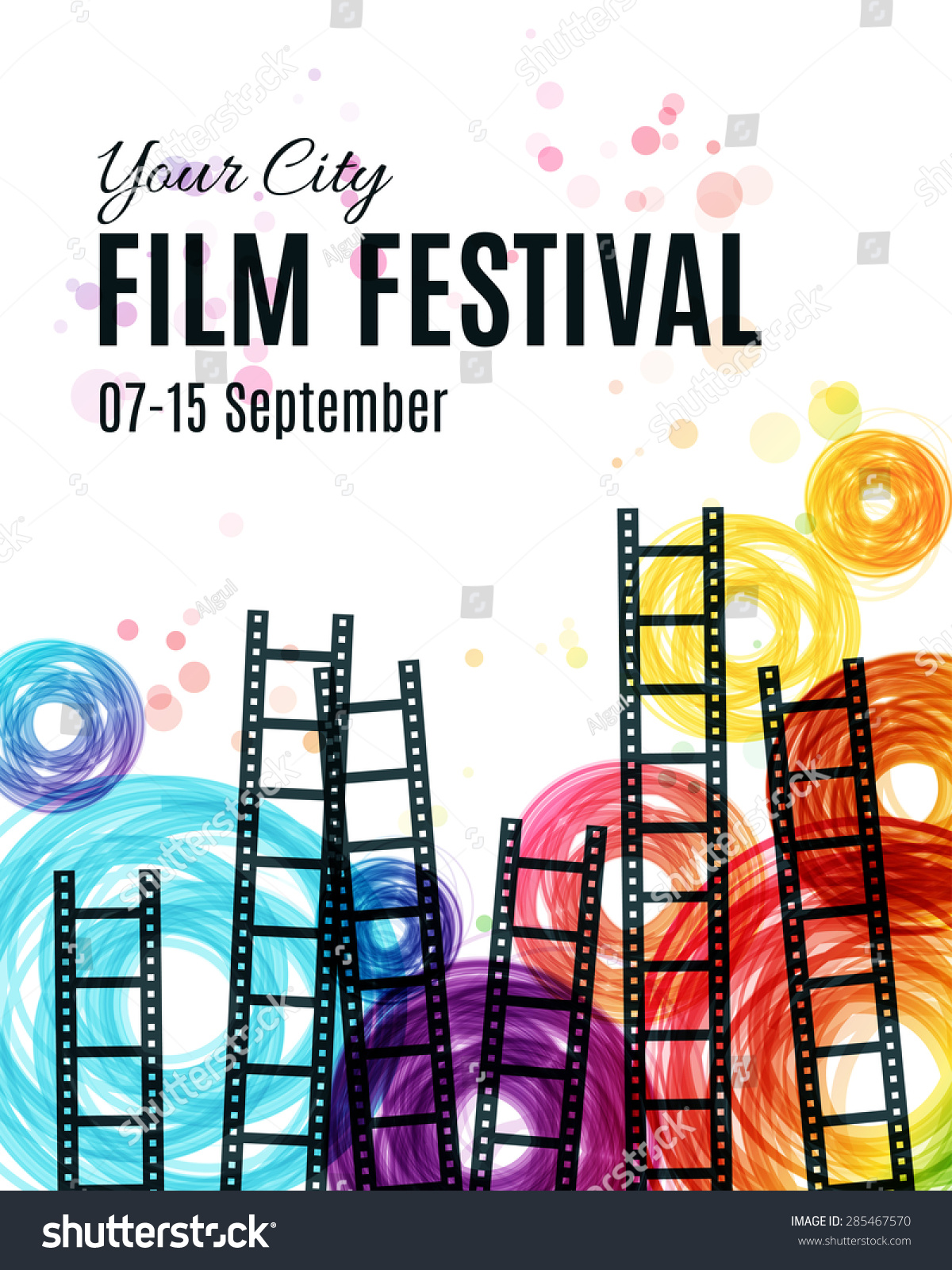 Movie Cinema Festival Poster Vector Template Stock Vector Royalty