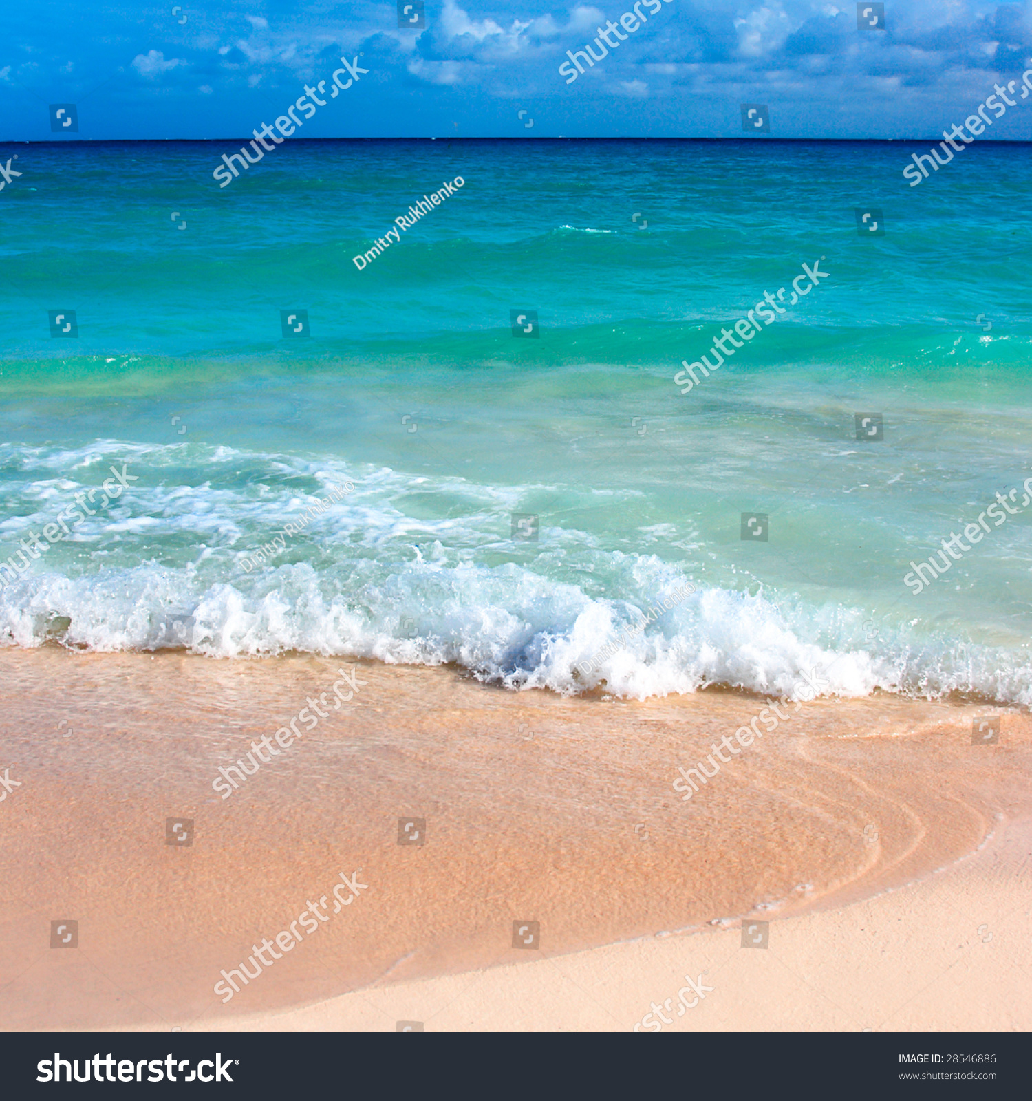 Beautiful Beach And Waves Of Caribbean Sea. Please Search ...