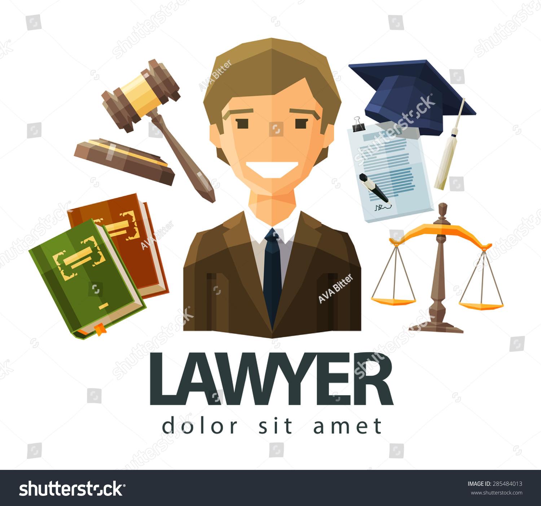 Lawyer Attorney Jurist Vector Logo Design Stock Vector ...