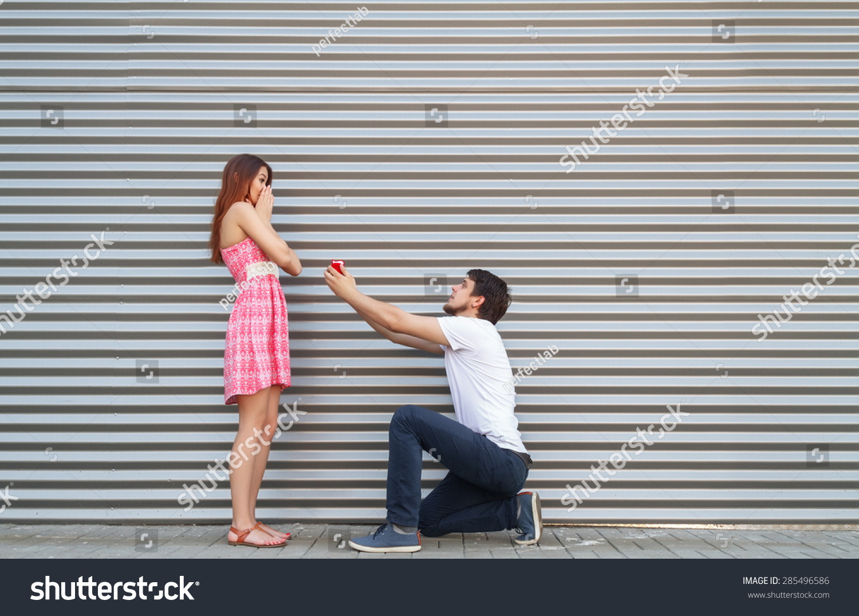 Unusual Wedding Proposal Stock Photo 285496586 Shutterstock
