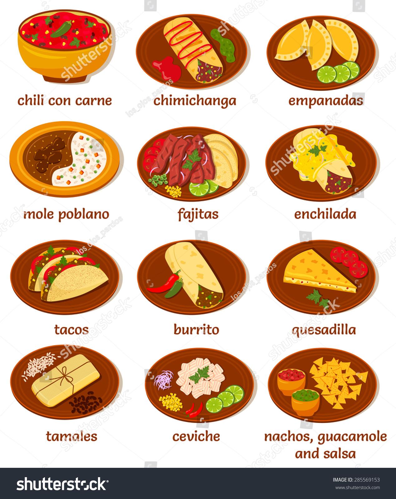Chimichanga Food Menu