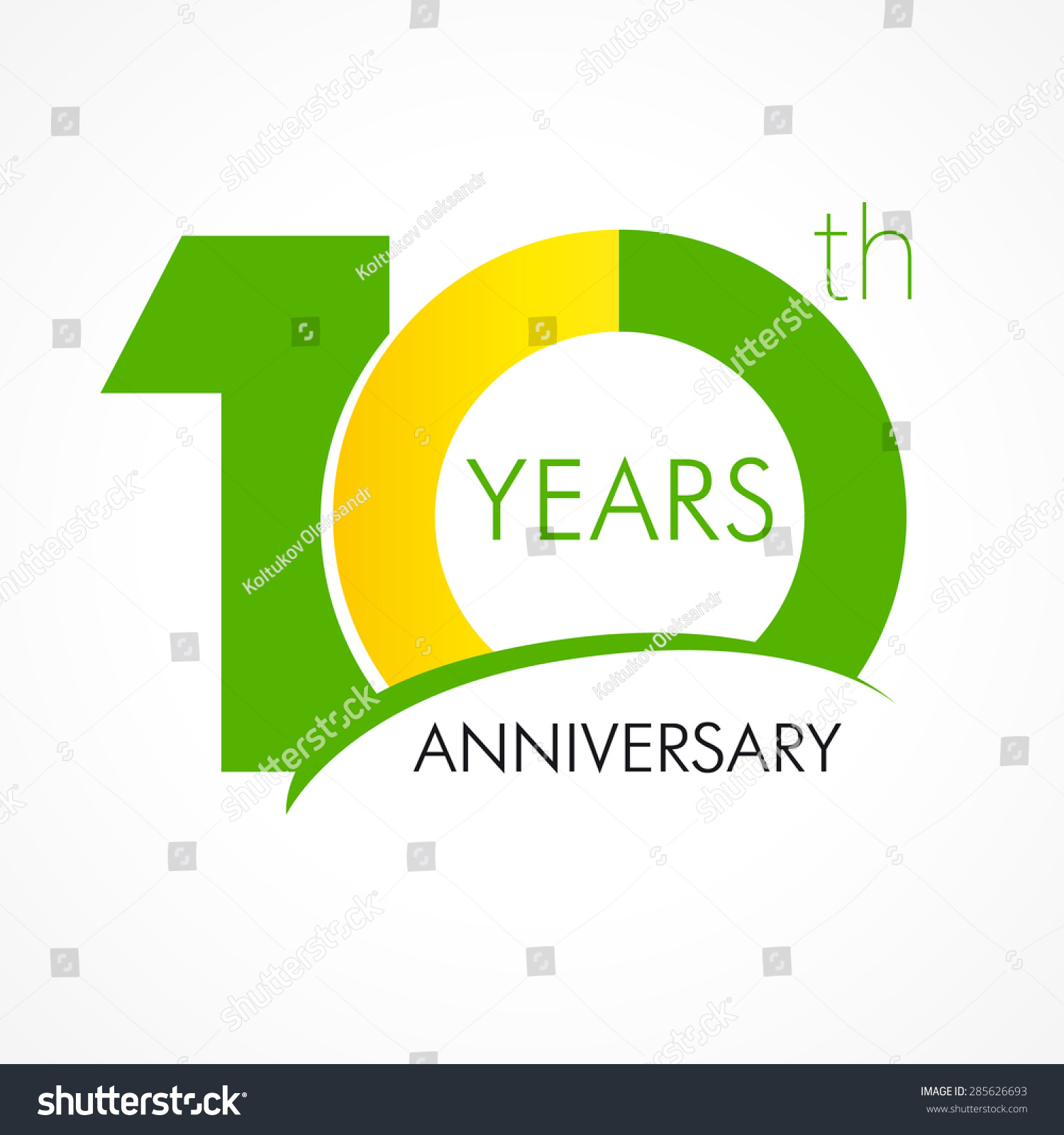 10 Years Old Celebrating Classic Logo Stock Photo (Photo, Vector ...
