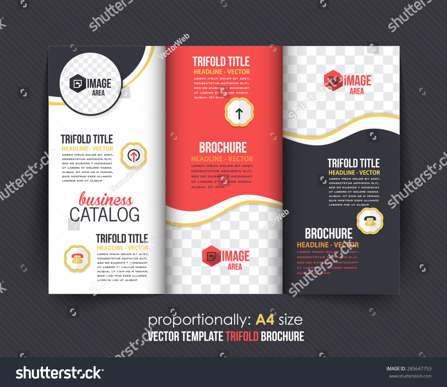 trifold brochure design catalog vector concept stock vector