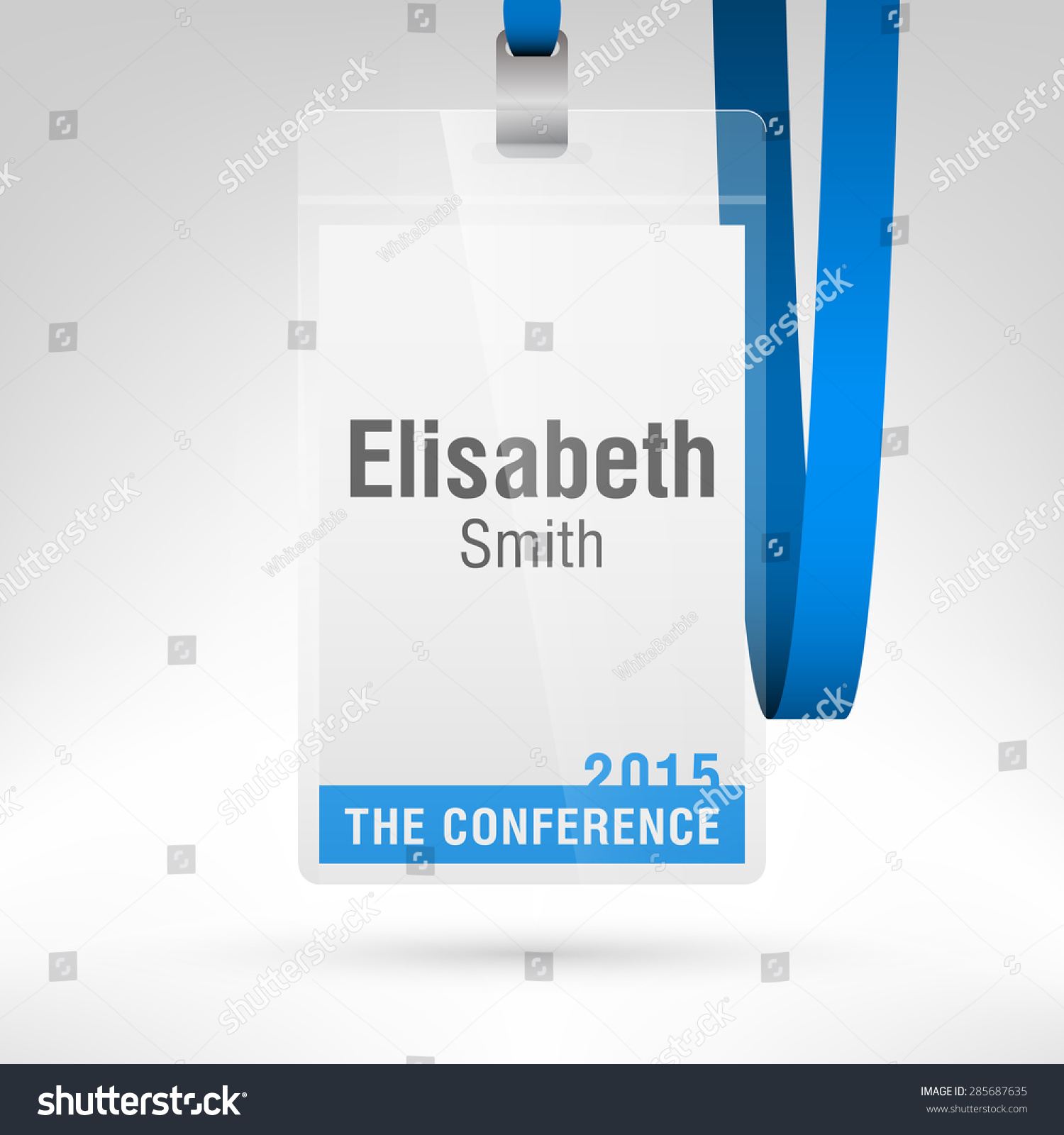 Placeholder Template | Conference Badge Name Tag Placeholder Blank Stock Vector 285687635