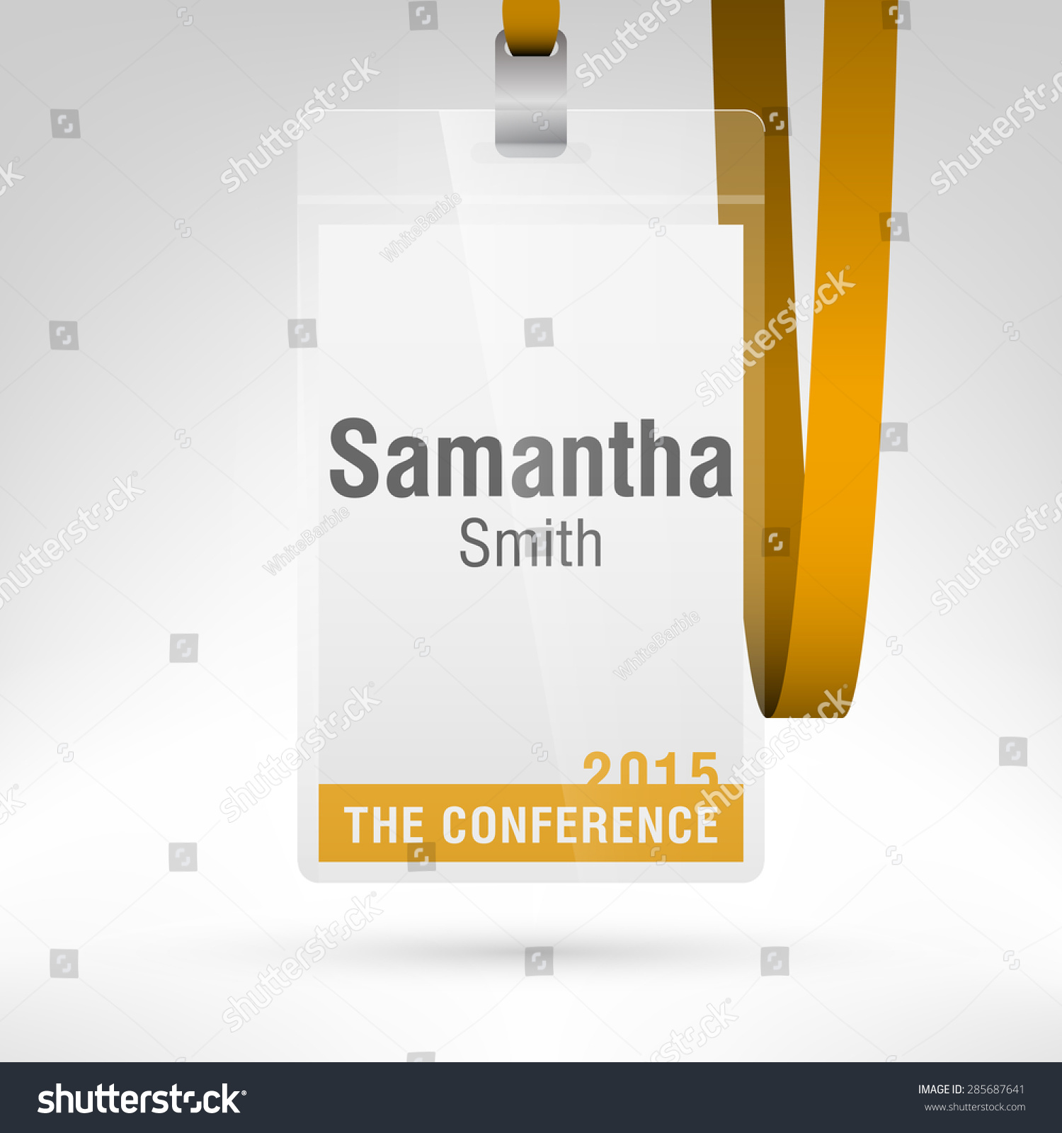 conference badge name tag placeholder blank stock vector royalty