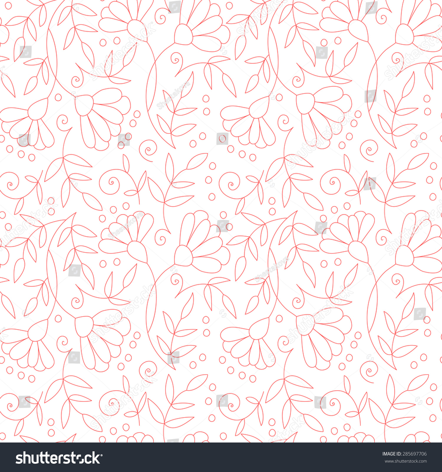 Simple Floral Background Pattern