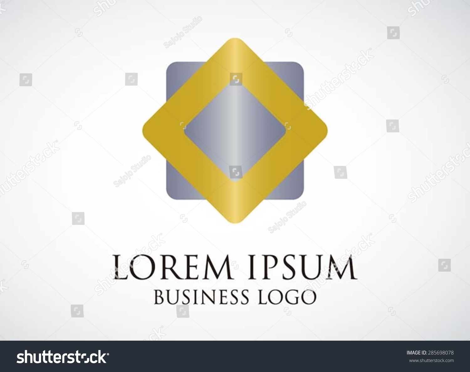 Logo element business square silver gold stock vector 285698078 logo element business square silver and gold combination vector design shape icon symbol for template buycottarizona