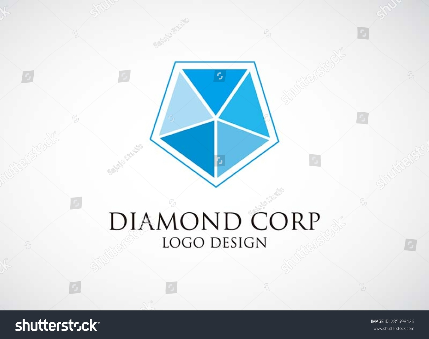 blue diamond shaped company logo and names pictures to pin