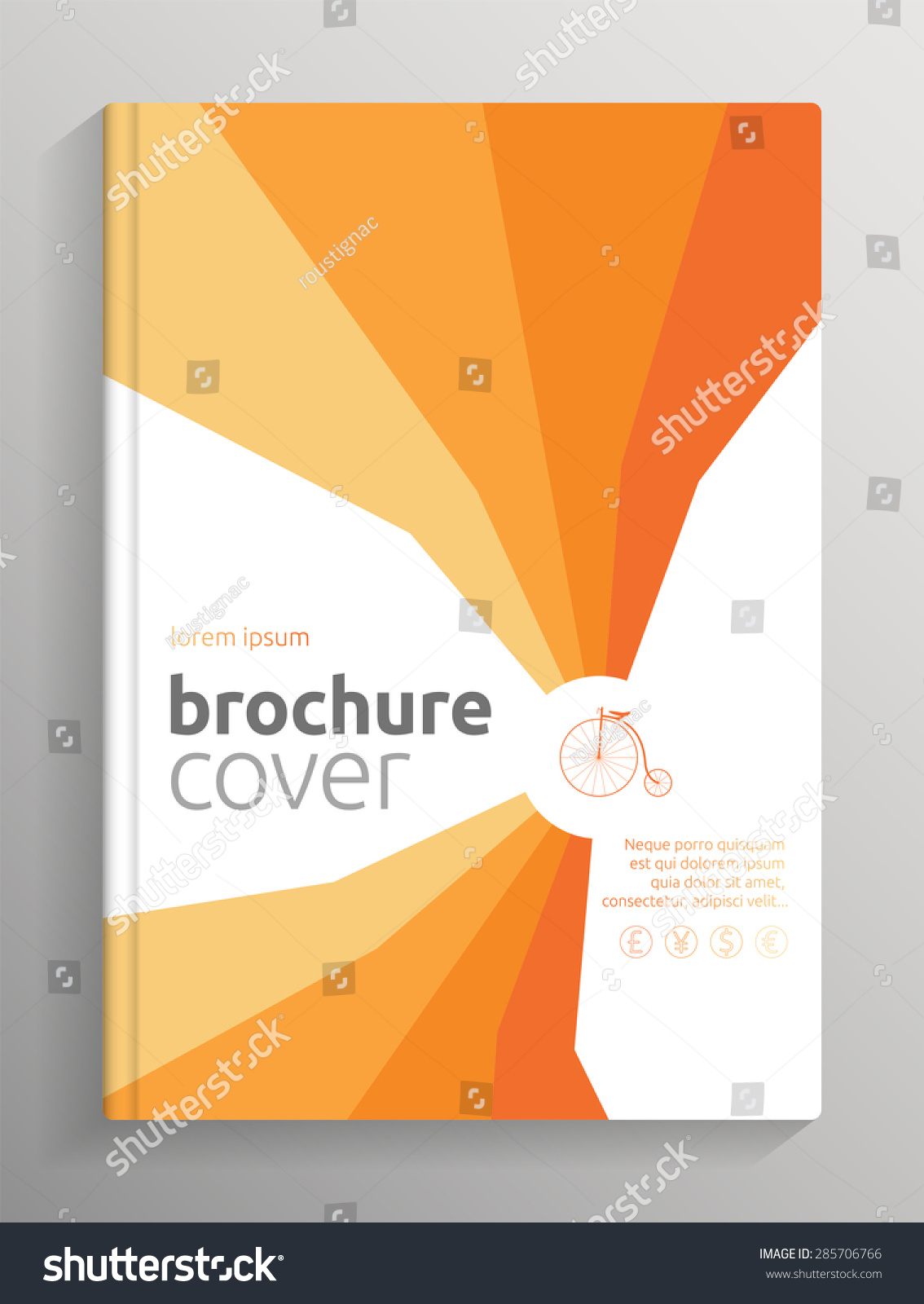 Cover Book Brochure Layout Vector : Brochure book cover layout orange stripes theme stock