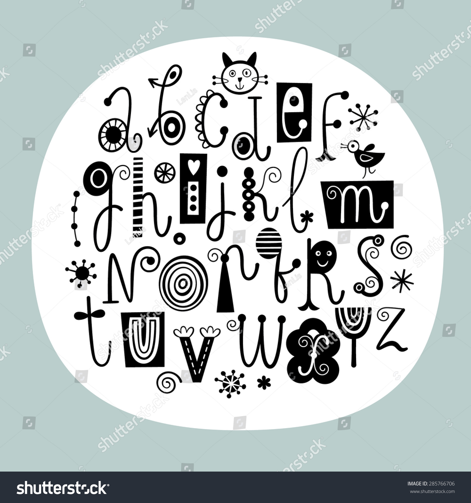 Stylish english alphabets s