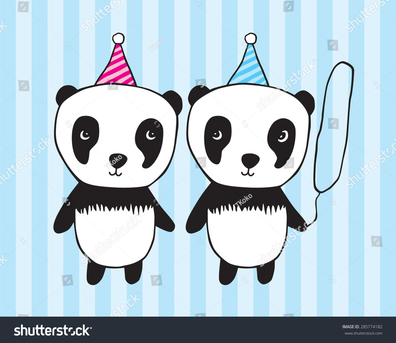 Happy Birthday Illustration Children Girl Boy Stock Vector