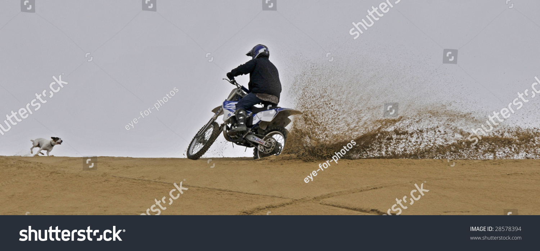 Dirt Bike Off Roading On Sand Stock Photo 28578394 Shutterstock