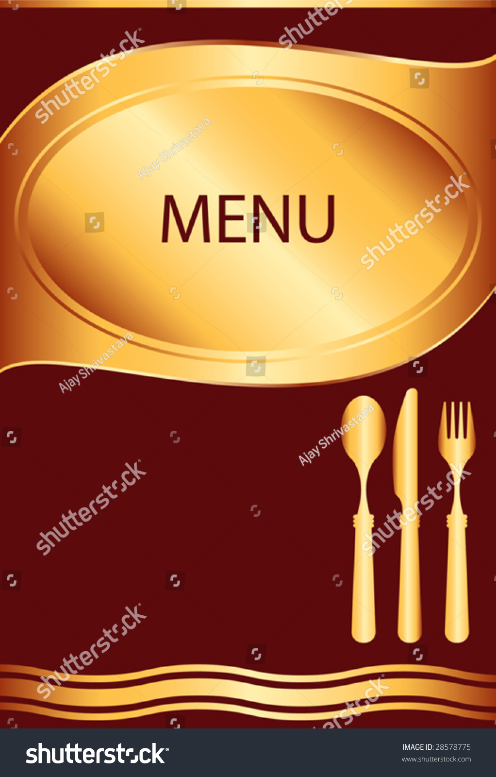Food restaurant hotel menu template design stock vector for Frequent diner card template