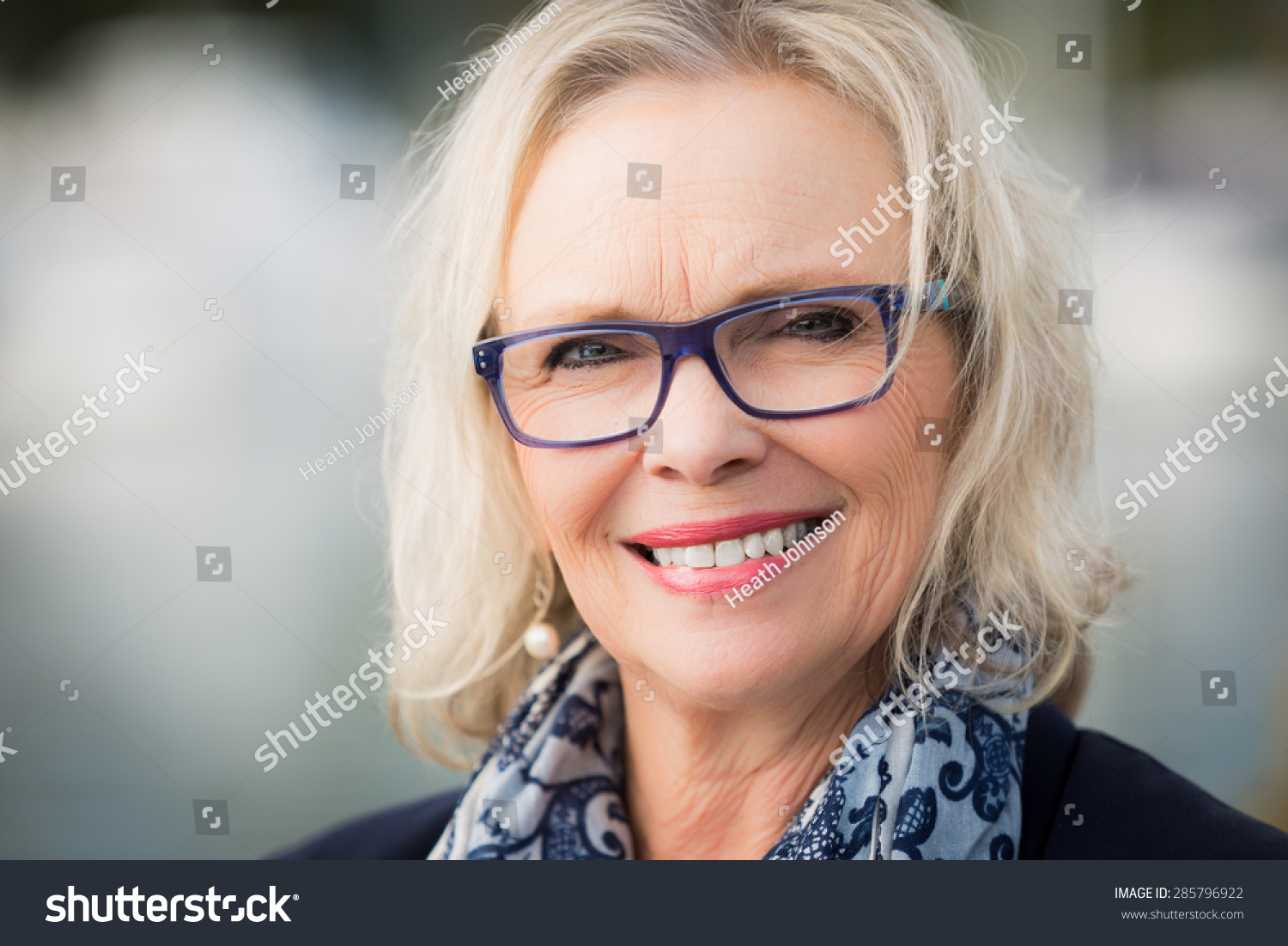 60 years old blonde woman stock photo (royalty free) 285796922