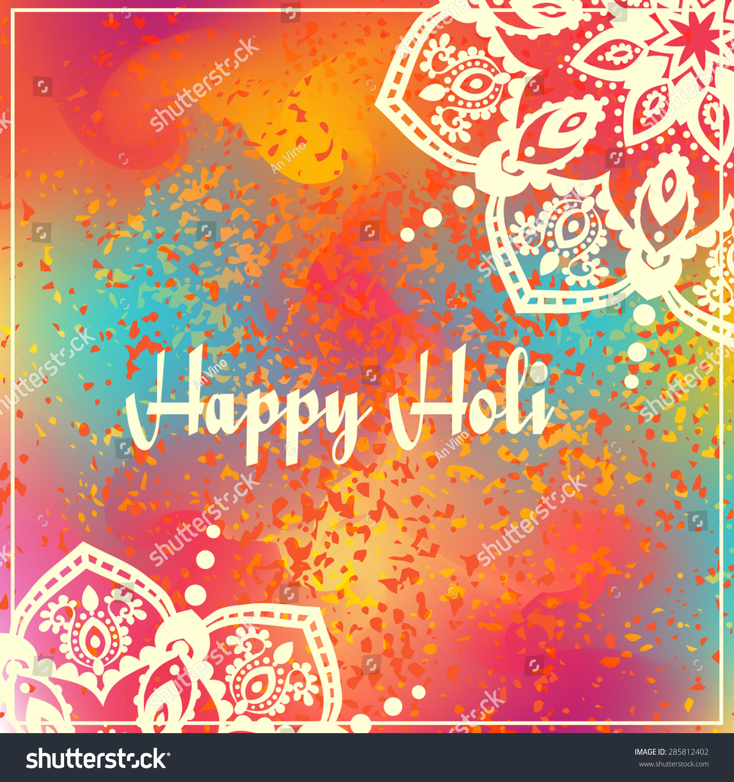Royalty-free Ornametal Happy Holi and Dolyatra… #285812402 Stock ...