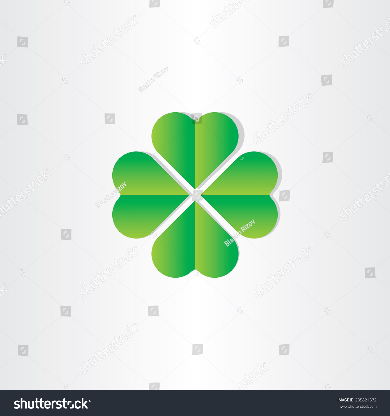 Green clover luck st patrick symbol stock vector 285821372 green clover luck st patrick symbol stock vector 285821372 shutterstock biocorpaavc