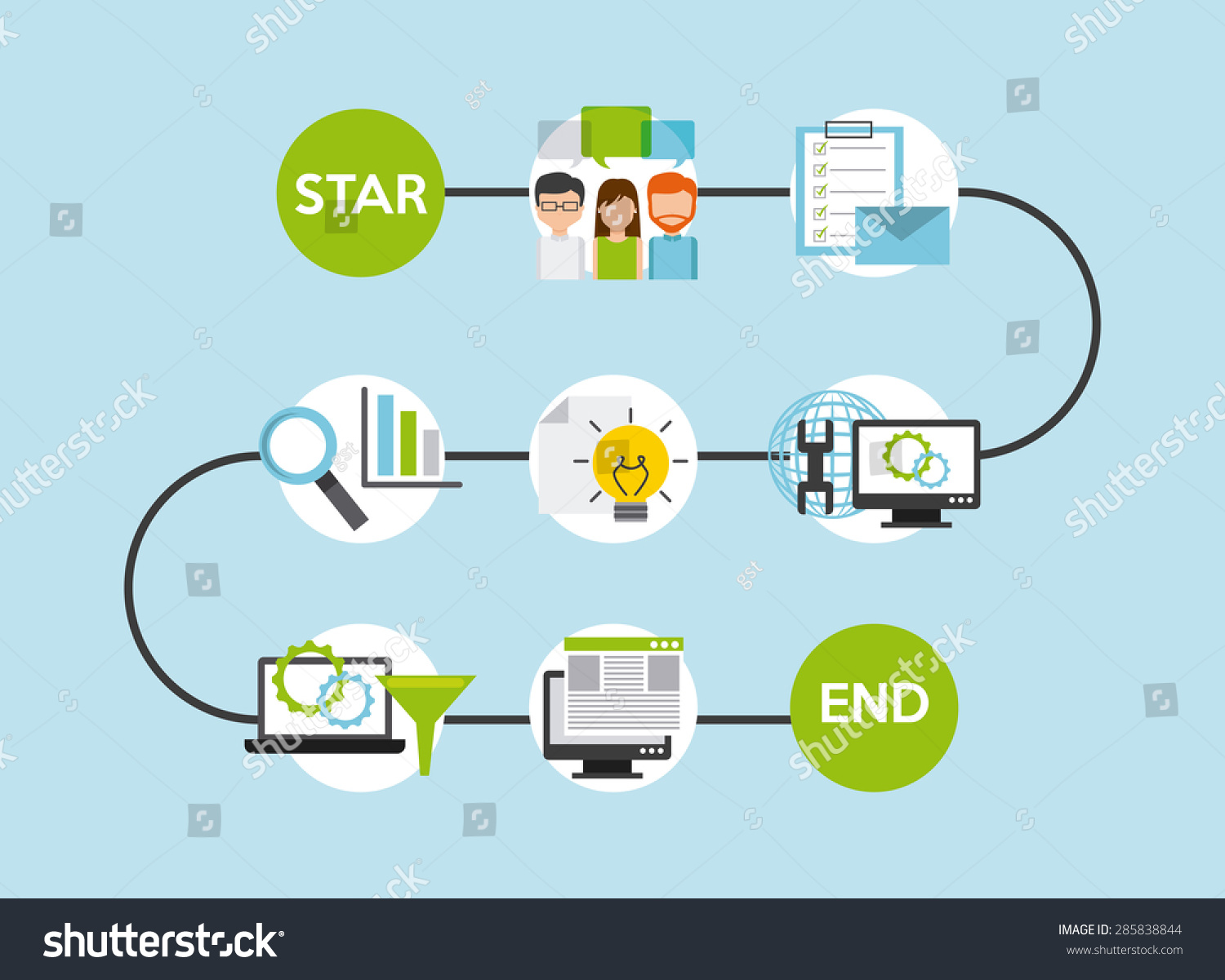 Programming software design vector illustration eps10 Vector image software