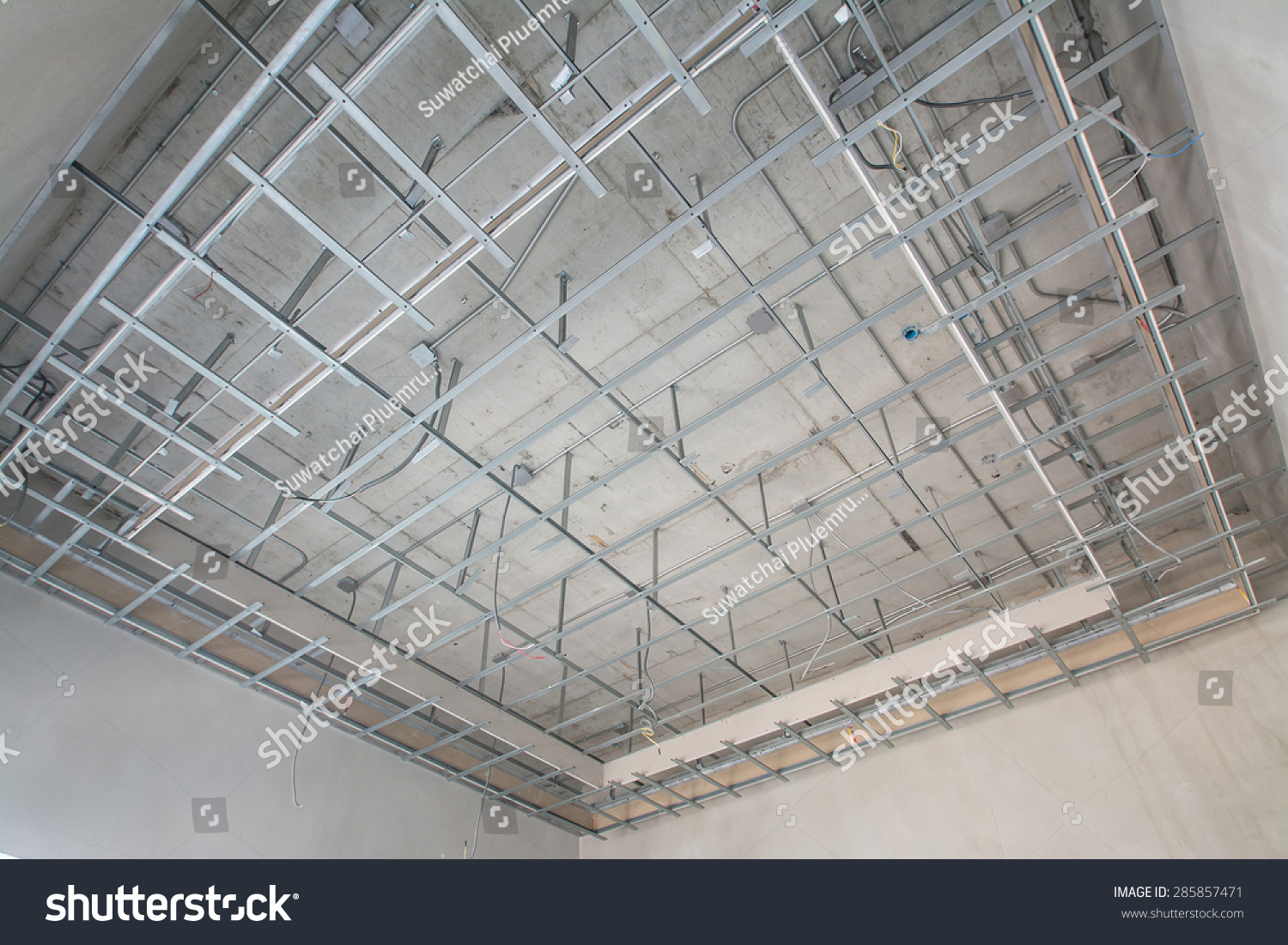 Suspended Ceiling Structure Stock Photo 285857471