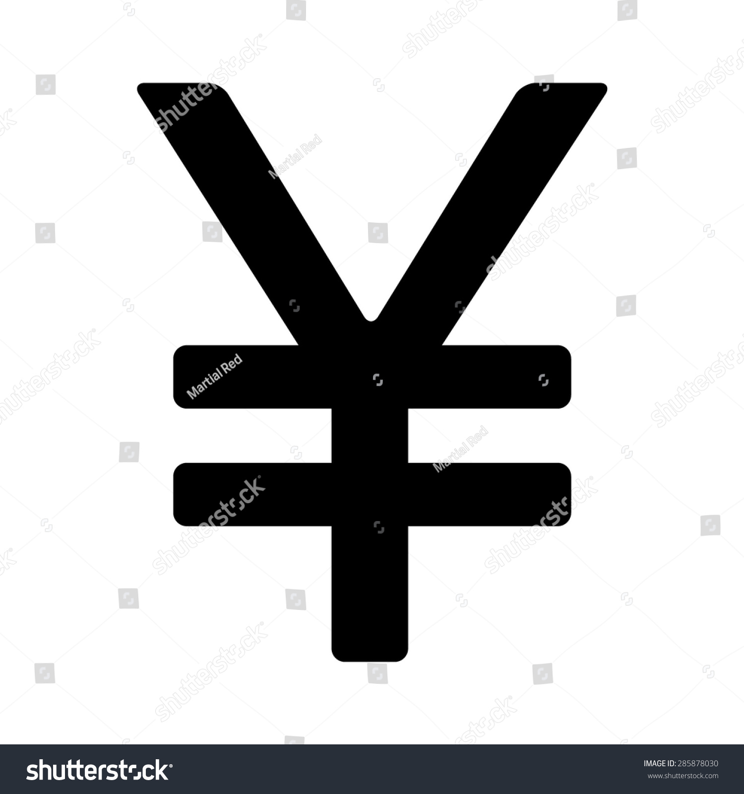 Japanese yen chinese yuan currency symbol stock vector 285878030 japanese yen or chinese yuan currency symbol flat icon for apps and websites biocorpaavc Image collections