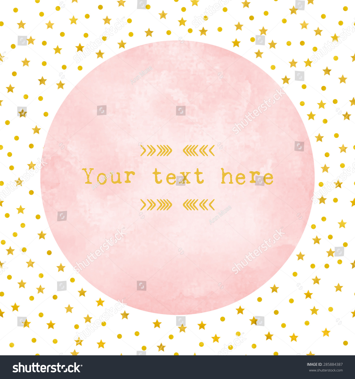 Pink Watercolor Circle Paper Background Gold Vector – Dot Paper Template