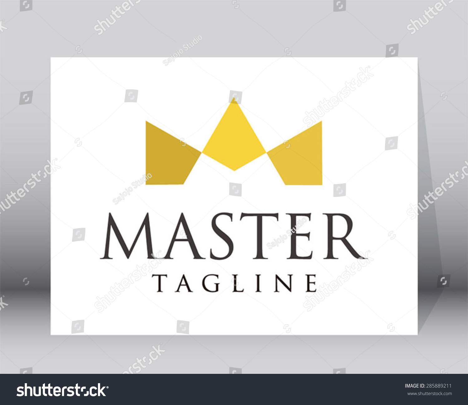 Gold master crown origami logo green stock vector 285889211 gold master crown origami logo green element symbol shape vector design icon abstract set template biocorpaavc Gallery