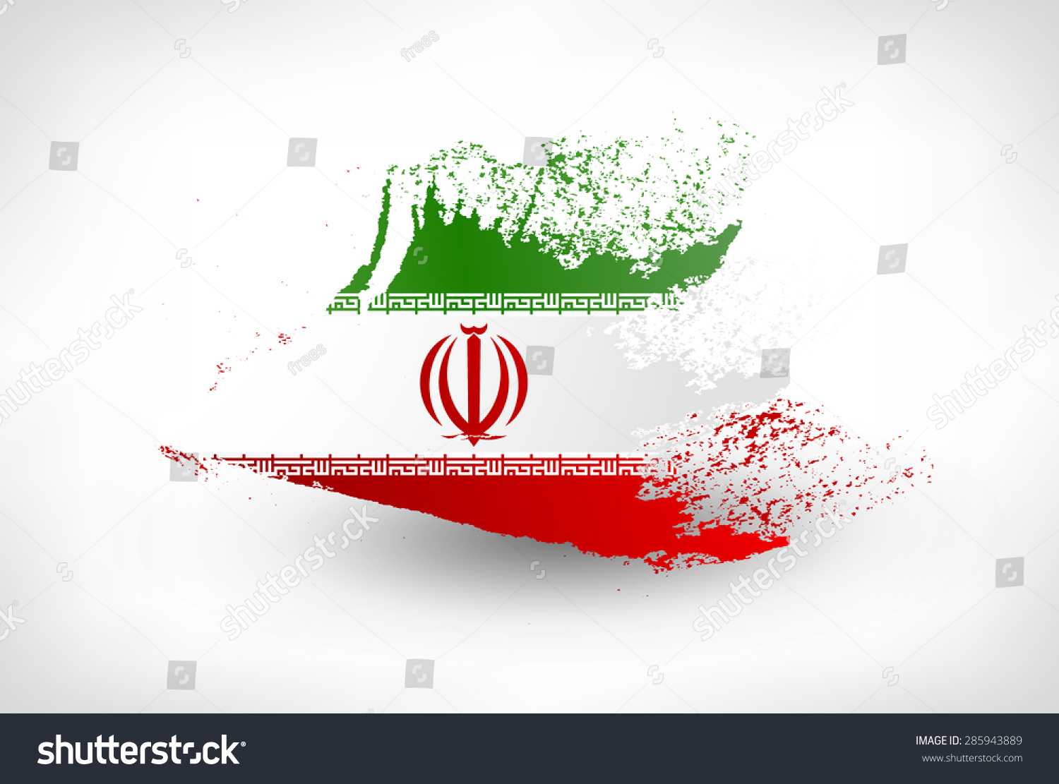 Brush painted flag iran hand drawn stock vector 285943889 brush painted flag of iran hand drawn style illustration with a grunge effect buycottarizona Choice Image