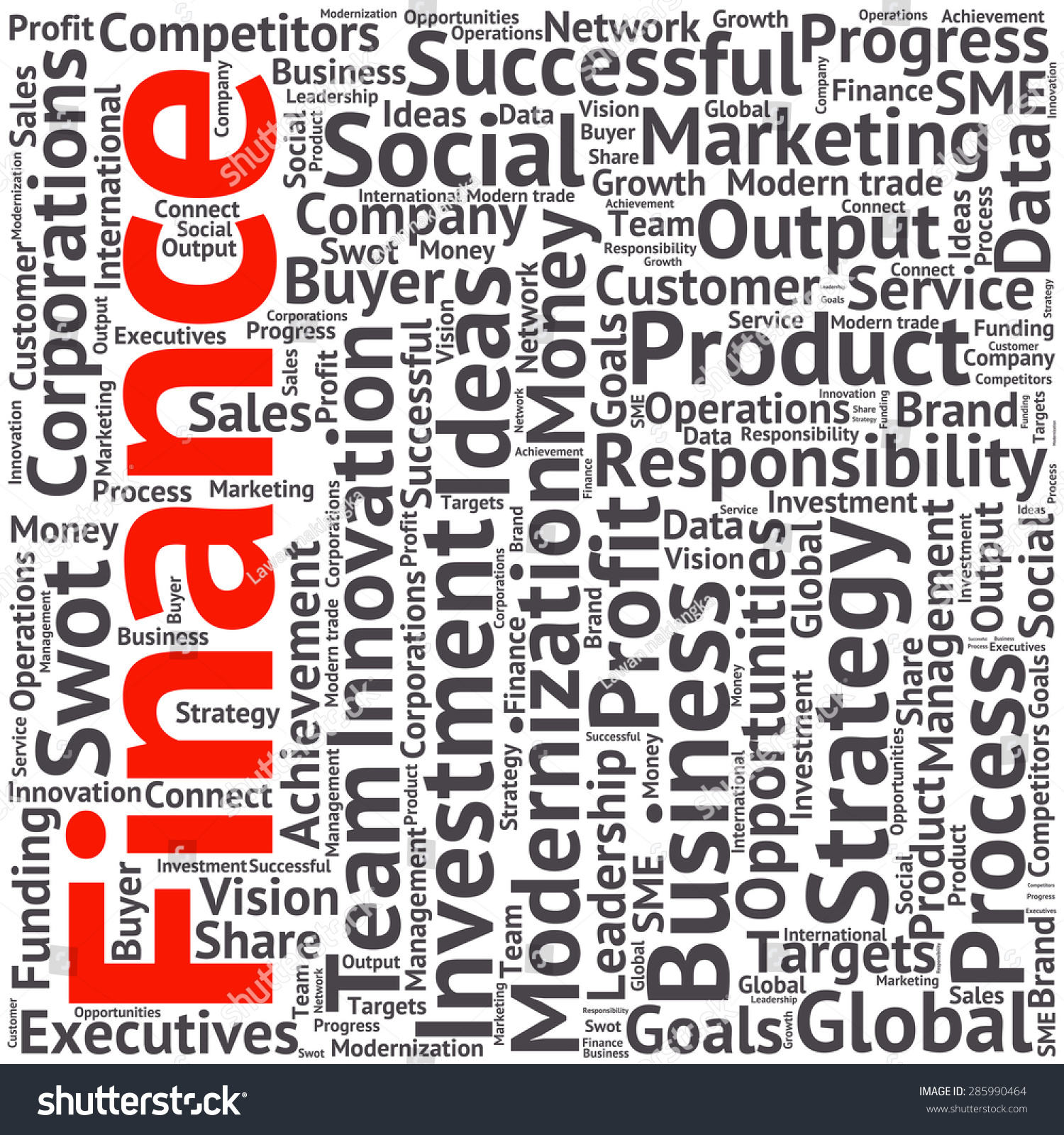 Finance Words: Business Finance Related Word Cloud Background Stock