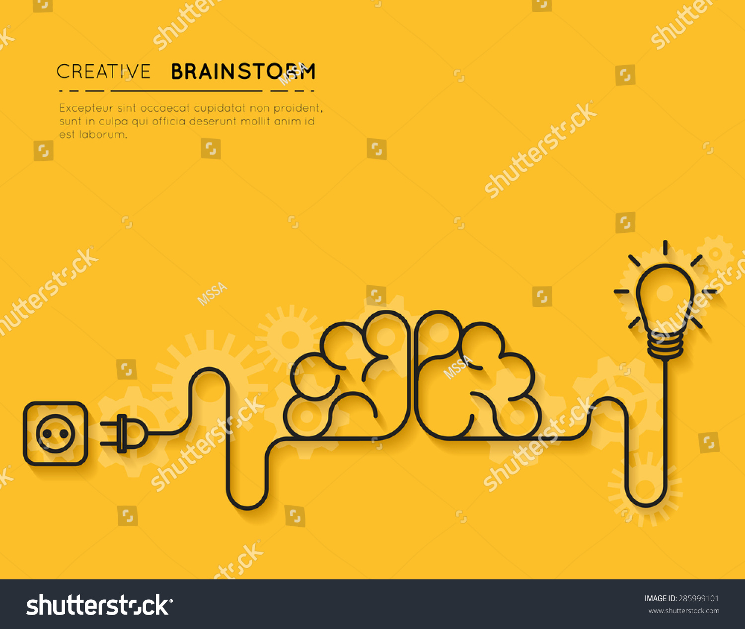 Creative Brainstorm Concept Business Idea Innovation Stock