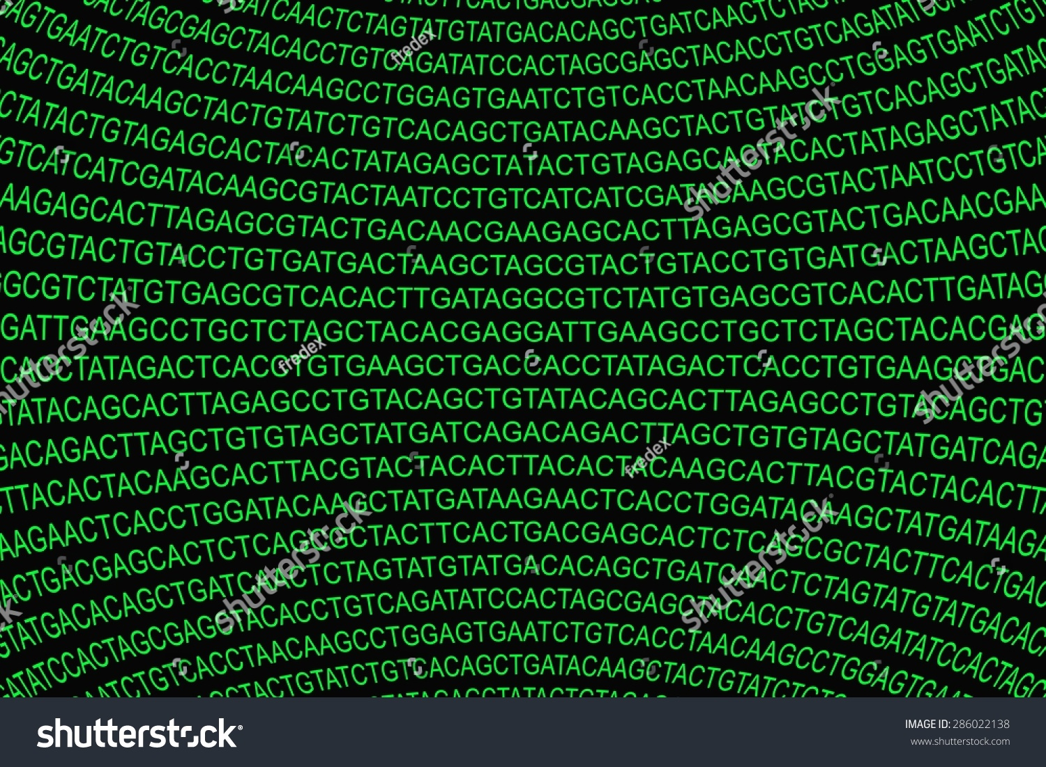 Green Glowing Dna Code Projected On Stock Illustration 286022138 ...