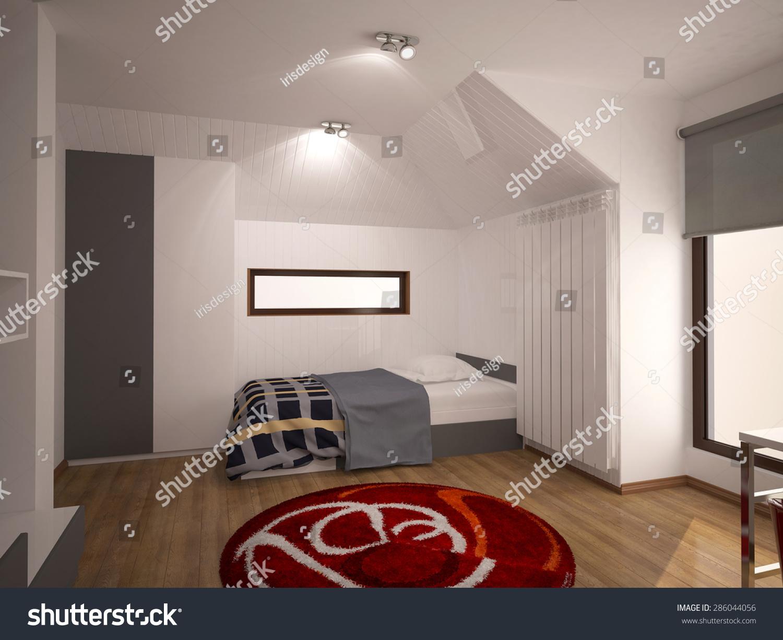 3d Rendering Bad Room Interior Design Stock Illustration 286044056