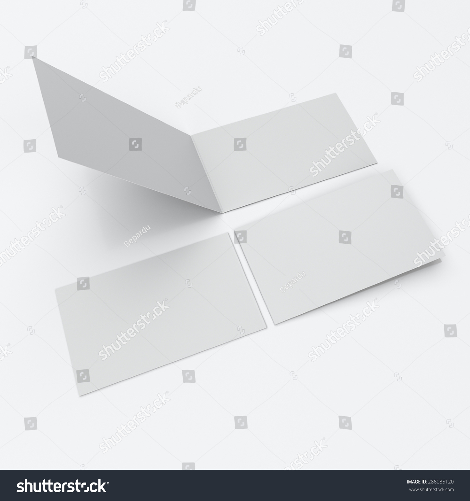 Royalty free stock illustration of blank twoleaf greeting cards blank two leaf greeting cards front and back view m4hsunfo