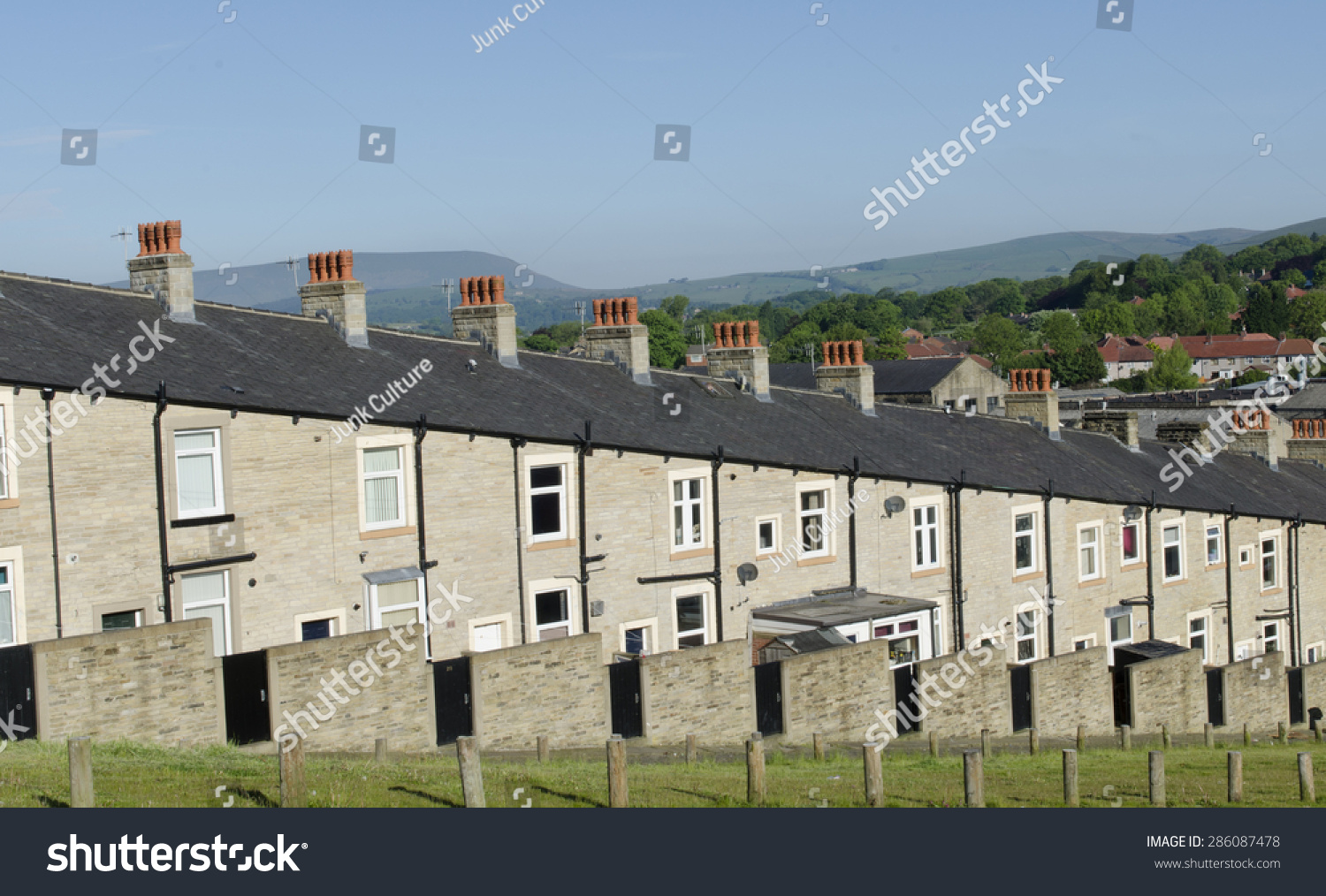 A Typical Row Of Lancashire Town Stone Facade Built And