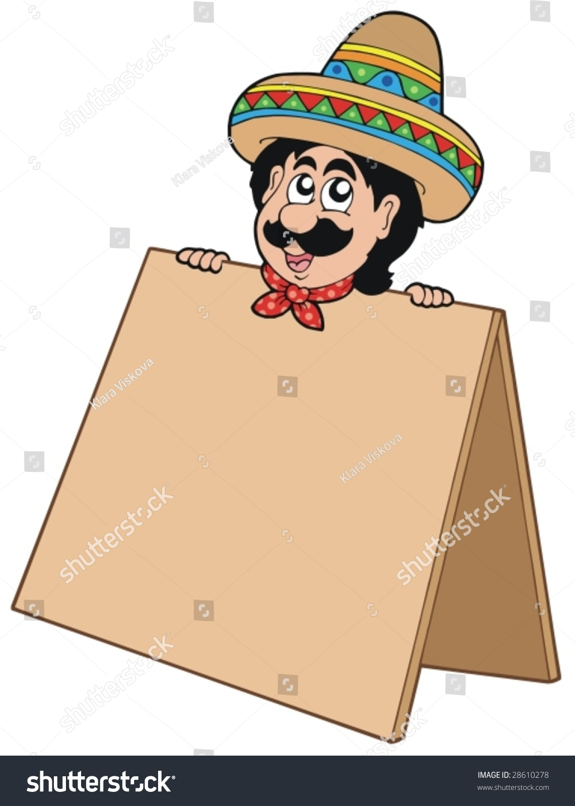 Mexican Man With Table - Vector Illustration. - 28610278 ...