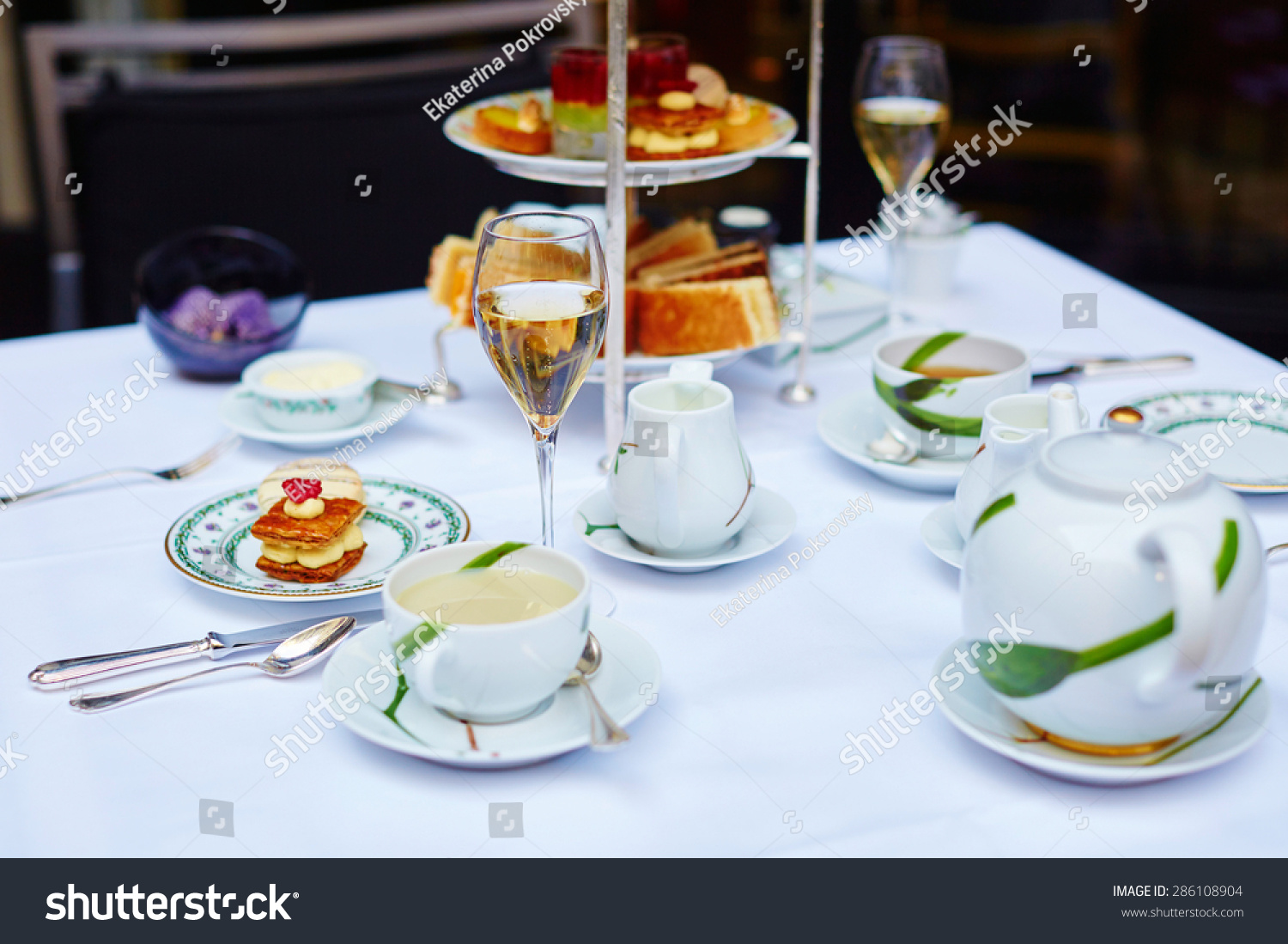 Cheap Beautiful Table Setting Selection Sandwiches Fancy Stock Photo With  Beautiful Table Settings.