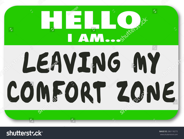 hello leaving my comfort zone name stock illustration 286118273 shutterstock. Black Bedroom Furniture Sets. Home Design Ideas