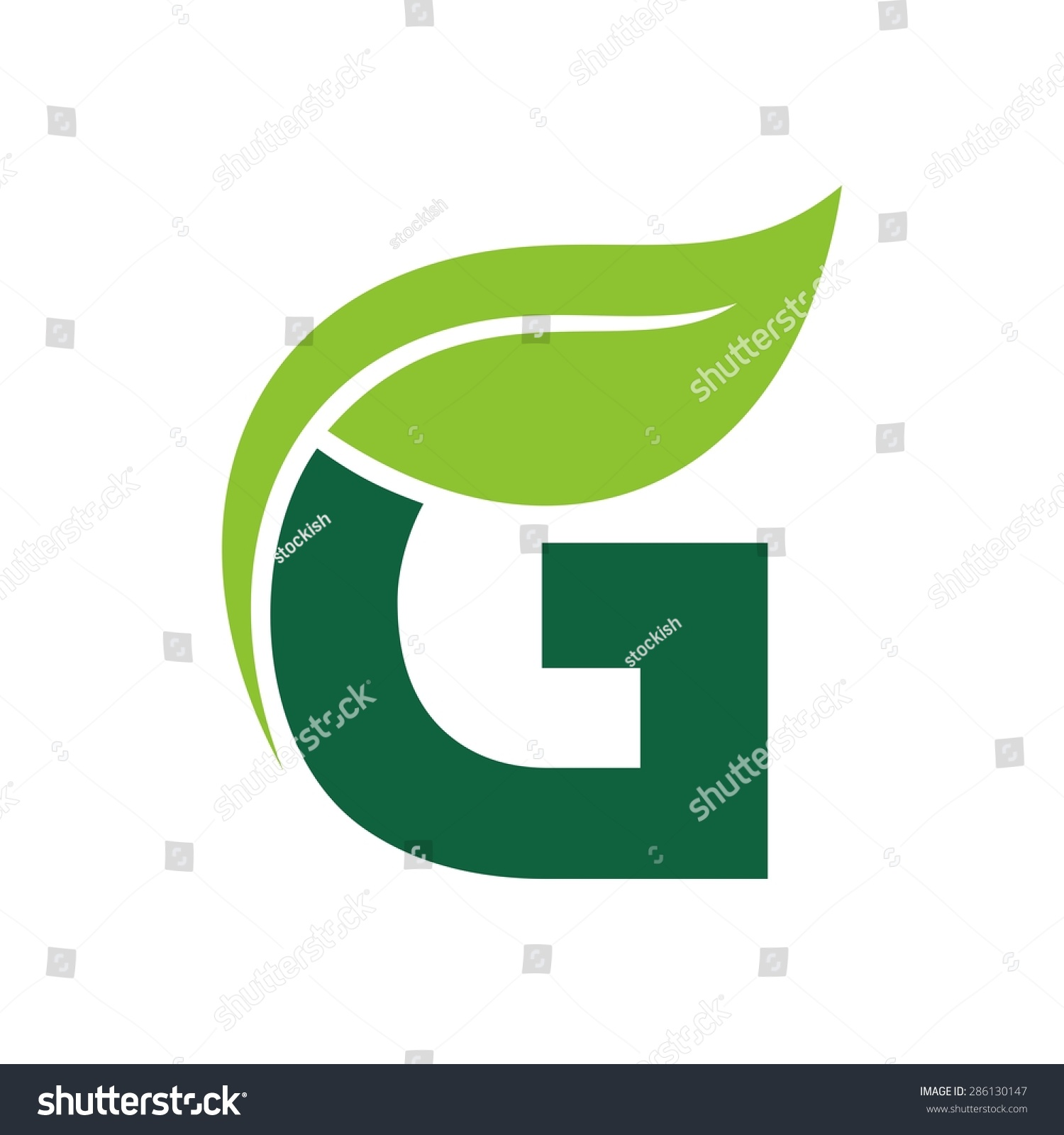 Logo Vector Graphic Elegant Green Possible Stock Vector Royalty