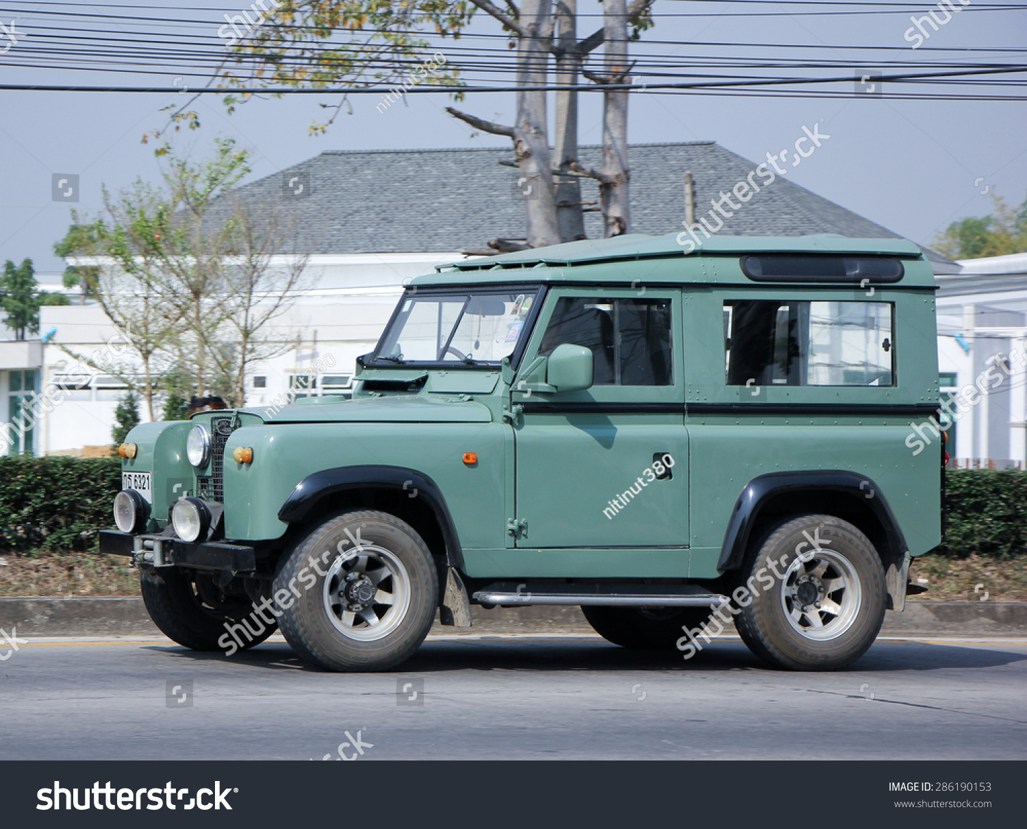 chiangmai thailand june 6 2015 old private car land rover mini truck photo at road. Black Bedroom Furniture Sets. Home Design Ideas