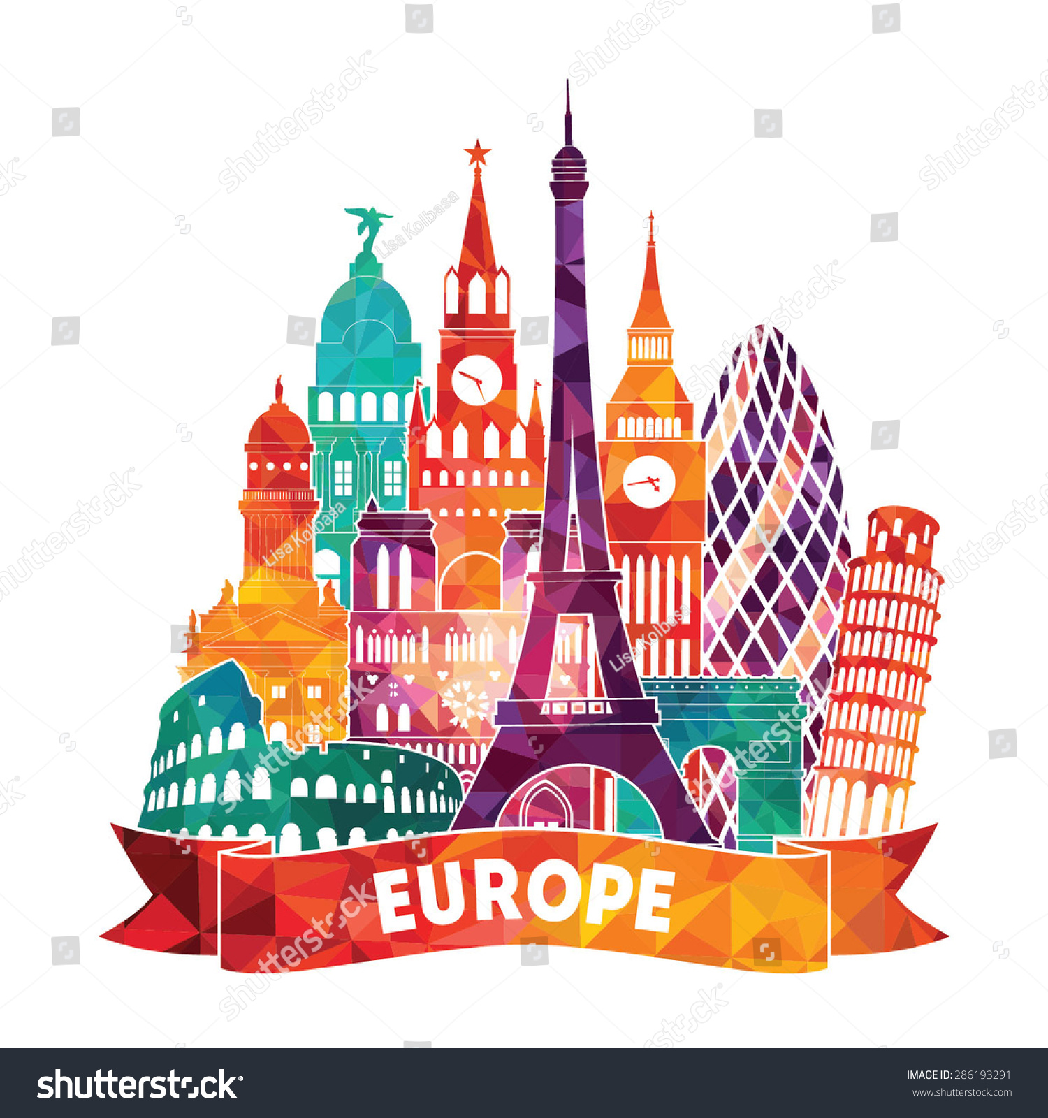vector illustration of europe - photo #7