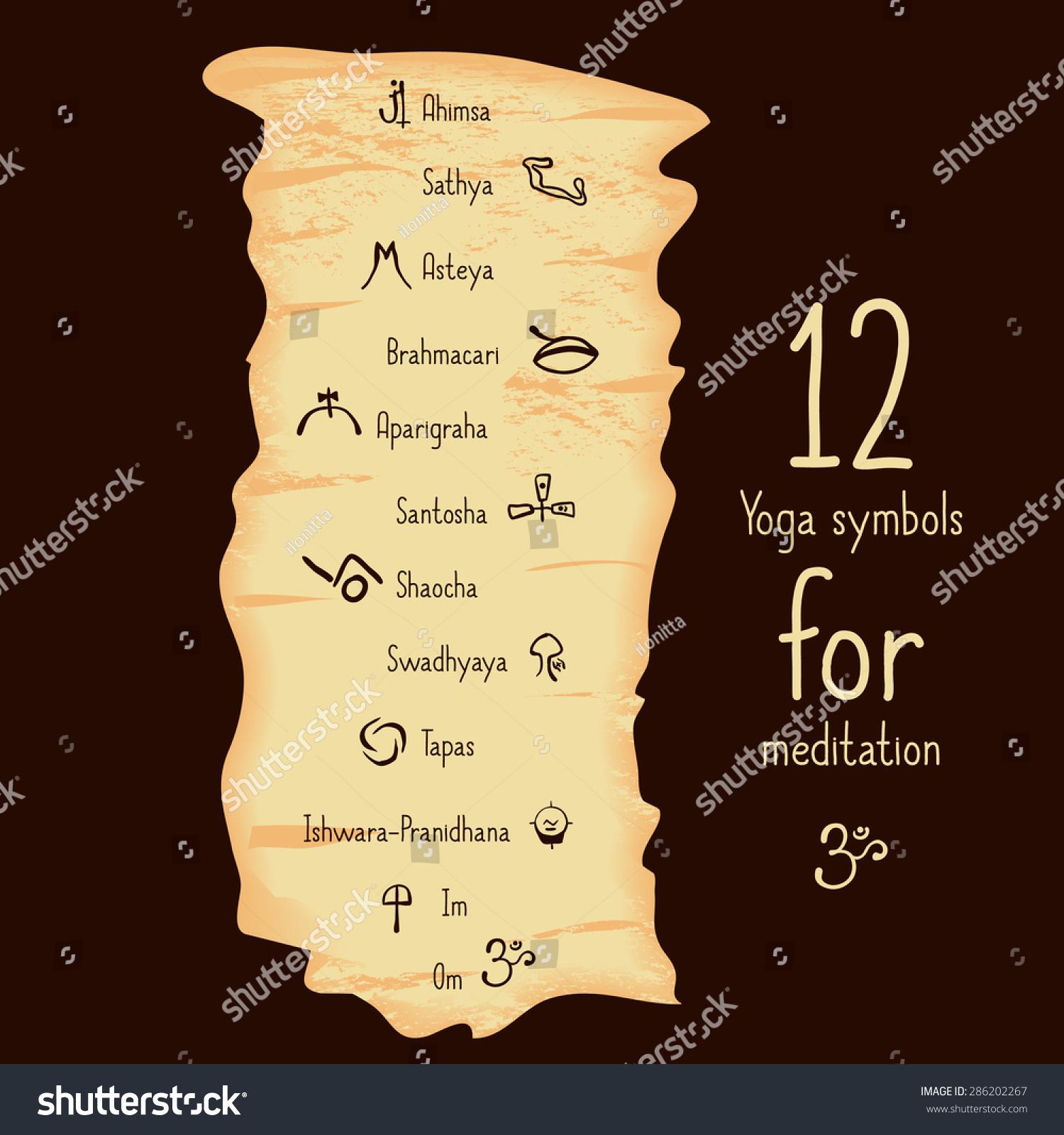 Yoga Poster Design Hatha Kunta 12 Stock Vector 286202267 ...