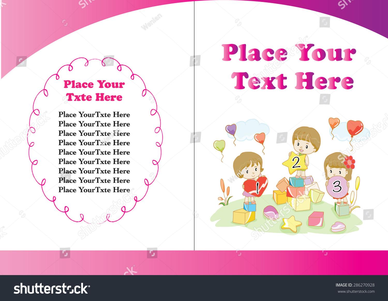 Children S Book Cover Layout : Kids book cover design stock vector shutterstock