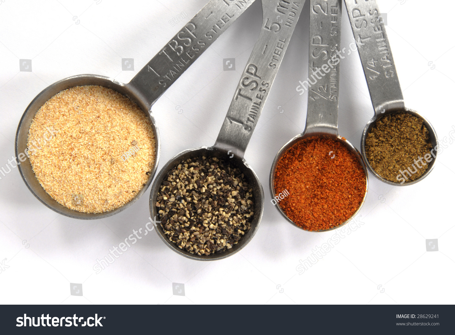 One tablespoon one teaspoon half teaspoon stock photo for 1 table spoon to oz