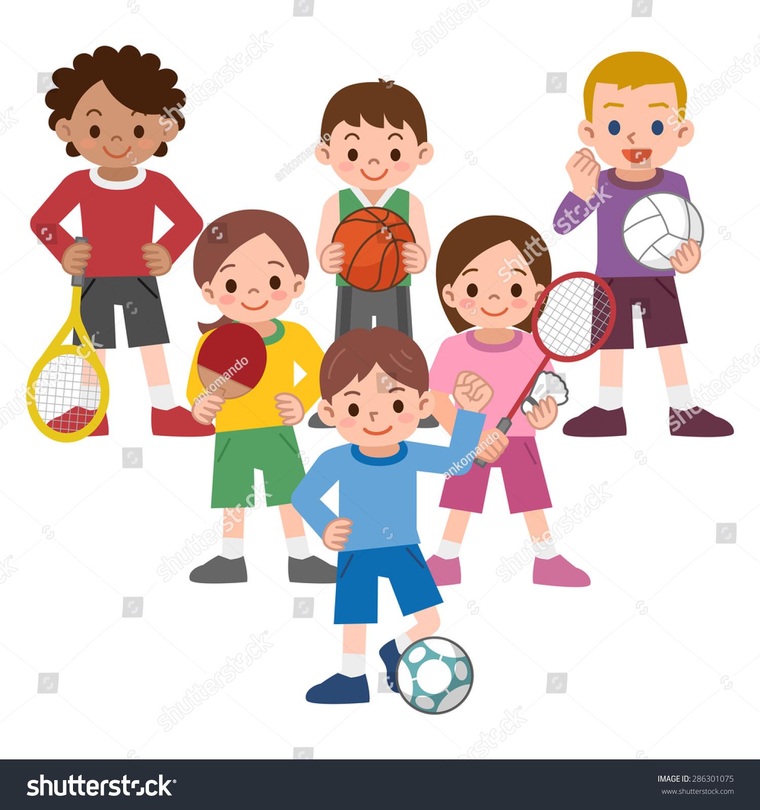 children variety sports stock vector 286301075 shutterstock