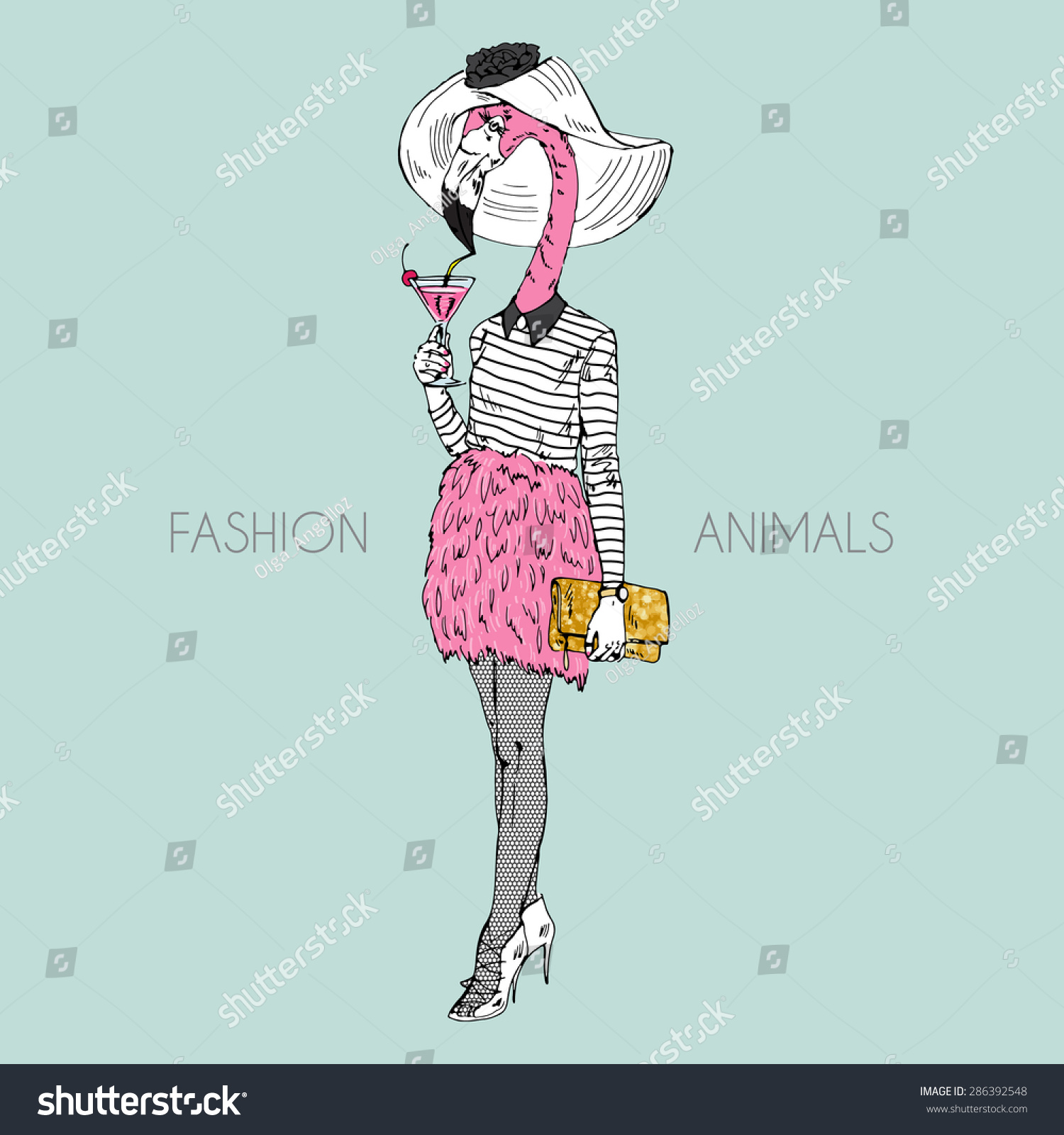 Royalty-free Fashion animal illustration eb88f4712f33