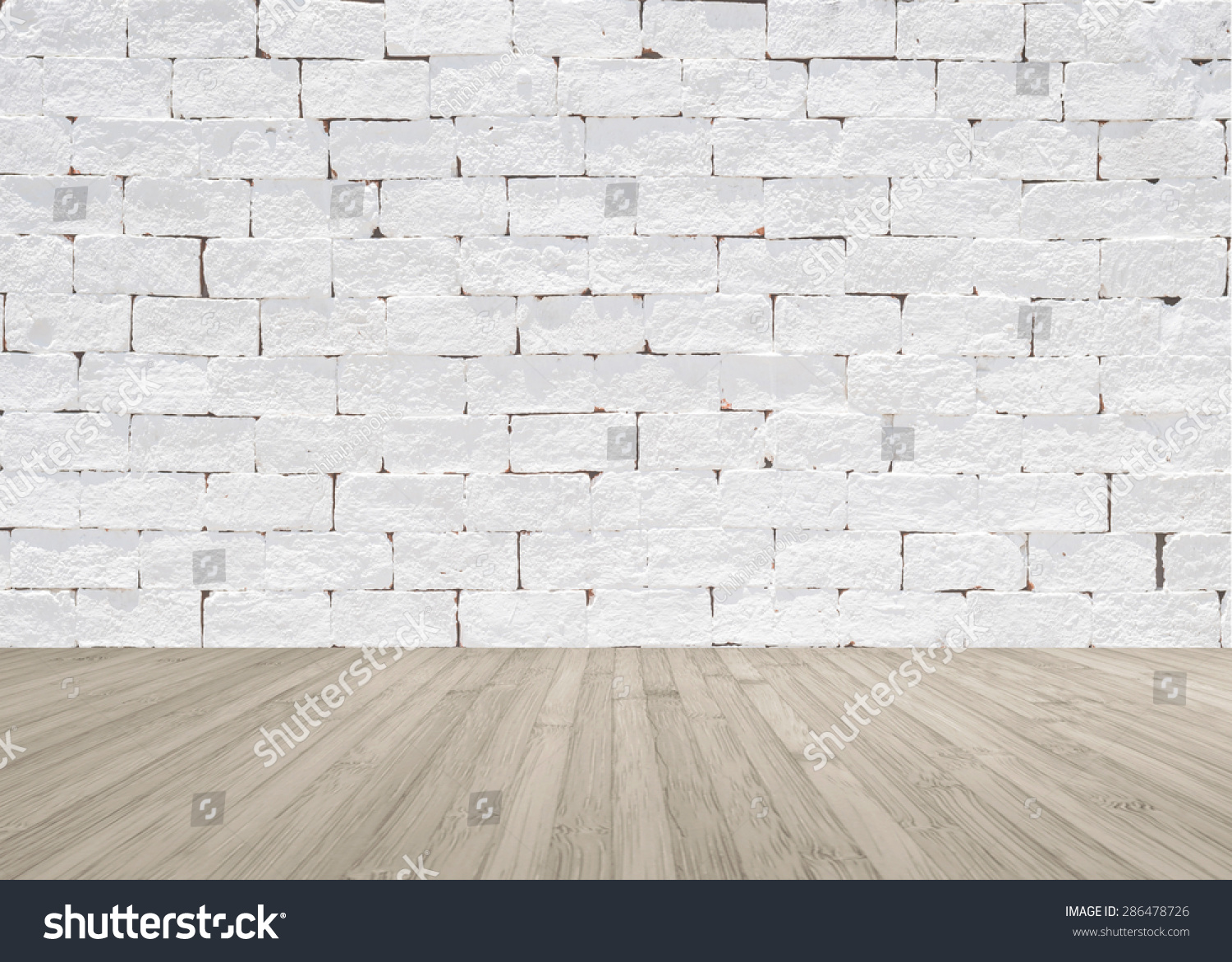 White painted brick wall texture wooden stock photo 286478726 shutterstock - Exterior textured masonry paint model ...