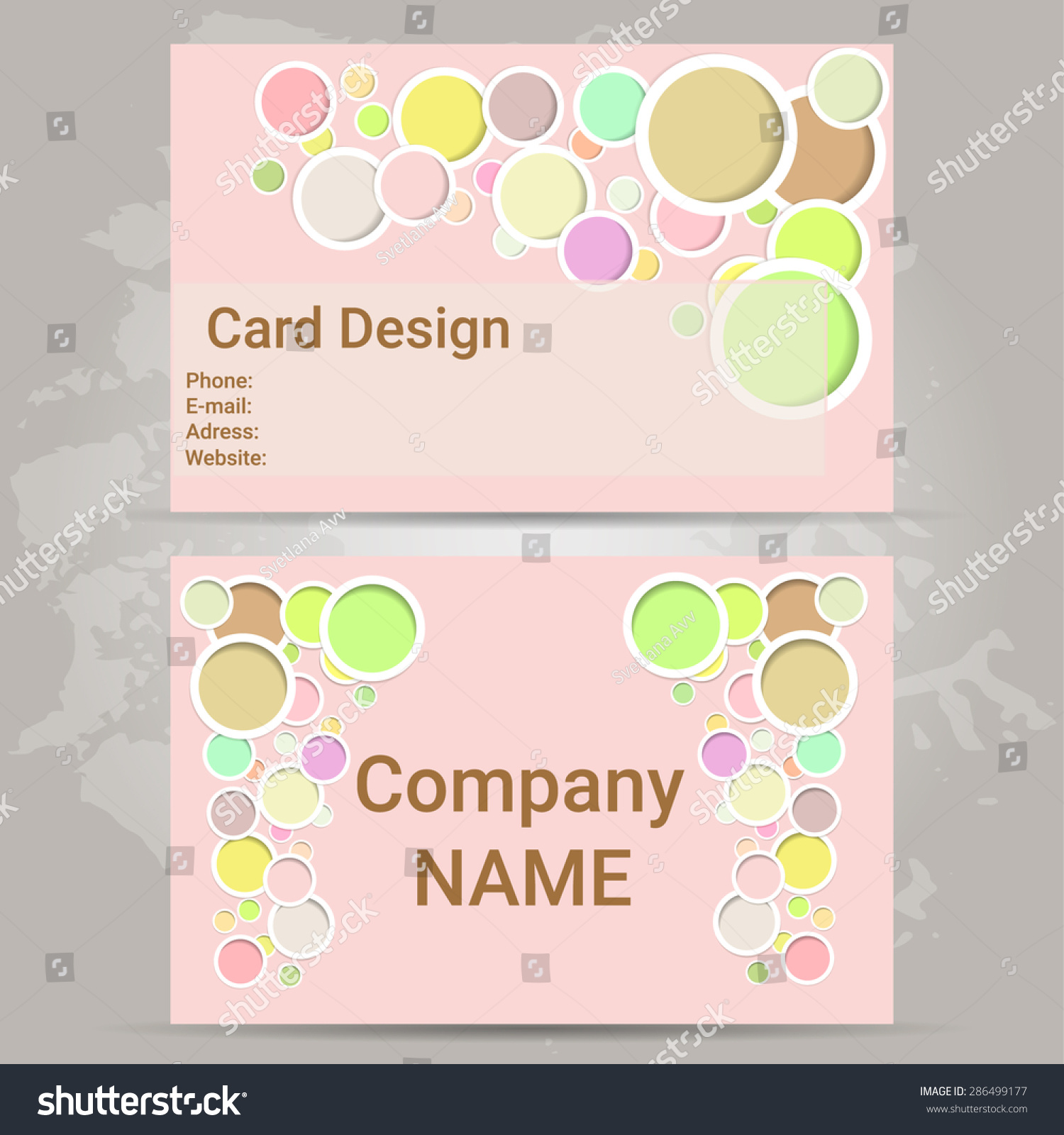 Business card your company person pink stock vector 286499177 a business card for your company or for the person pink background pastel colors colourmoves