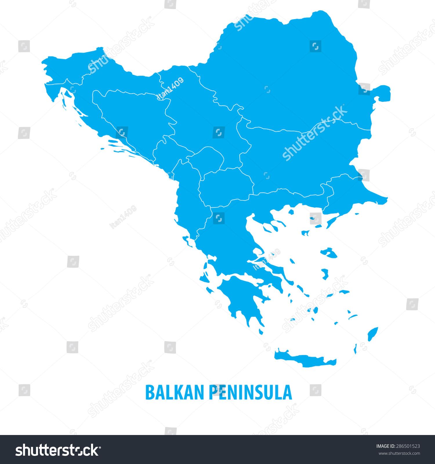Balkanin Kartta Arkistovektori Rojaltivapaa 286501523